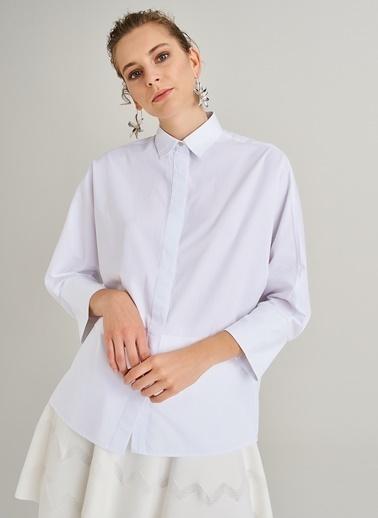 People By Fabrika Yarasa Kol Gömlek Beyaz